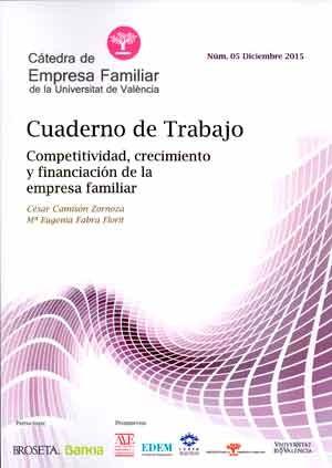 Crecimiento de y trabajo financiación de la competitividad, empresa familiar