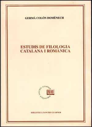 Estudis de filologia catalana i romànica