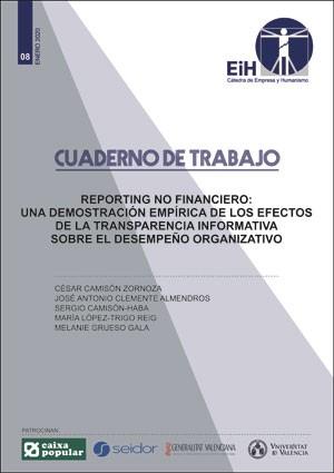 Reporting no financiero. Una demostración empírica de los efectos de la transparencia informativa sobre el desempeño organizativo