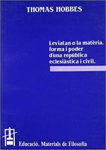 Leviatan o la matèria, forma i poder d'una república eclesiàstica i civil