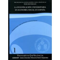 La investigación universitaria en economía social en España