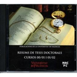 Resums de Tesis Doctorals. Cursos 00/01 i 01/02