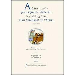 Arbitris i notes per a Quart i València: la gestió agrícola d'un terratinent de l'Horta