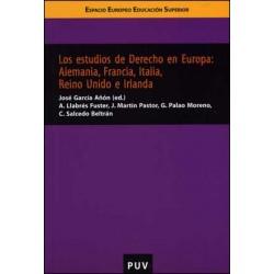 Los estudios de Derecho en Europa: Alemania, Francia, Italia, Reino Unido e Irlanda