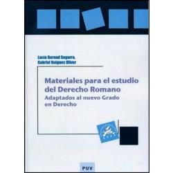 Materiales para el estudio del Derecho Romano