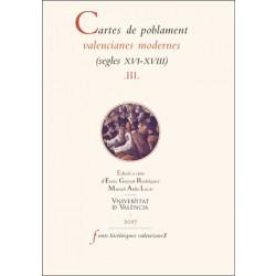 Cartes de poblament valencianes modernes (segles XVI-XVIII).  Vol III