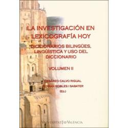 La investigación en lexicografía hoy (Volumen II)