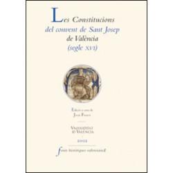 Les Constitucions del convent de Sant Josep de València (segle XVI)
