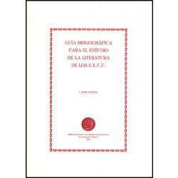 Guía bibliográfica para el estudio de la literatura de los Estados Unidos
