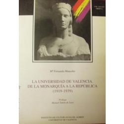 La Universidad de Valencia. De la Monarquía a la República (1919-1939)