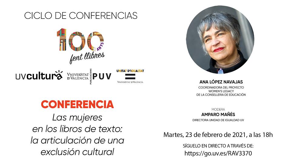 Invitación Conferencia Ana López Navajas